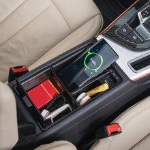 רכב צ י אלחוטי מטען 15w מהיר טעינת טלפון מטען עבור אאודי A4 B9 A5 S4 S5 RS4 RS5 רכב משענת יד תיבת טעינת טלפון בעל