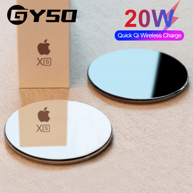GYSO 20W Fast Wireless Charger For Samsung Galaxy S10 S9 Note 10 S10+ 9 iPhone 11 Pro XS Max XR X 8 Plus