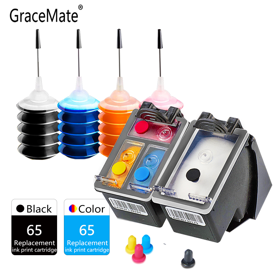 GraceMate <font><b>Ink</b></font> <font><b>Cartridge</b></font> Compatible for <font><b>Hp</b></font> 65 Envy 5010 5012 5014 5020 5030 5032 5034 5052 5055 <font><b>2620</b></font> 2630 2632 3721 3723 Printer image