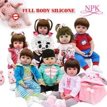 Speelgoed Full body siliconen waterdicht bad speelgoed populaire hot selling reborn peuter baby poppen bebe pop reborn levensechte zachte touch(China)