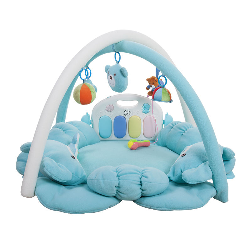 Four Seasons Universal Newborn Music Remote Control Fitness Rack Play Game Blanket Baby Gym Mat Toys For Children 0-18month