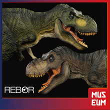 Rebor 1/35 paleontologia tiranossauro rex t rex assassino rainha dinossauro modelo animal decoração brinquedo