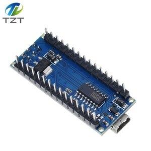 Image 2 - 10 pièces Nano 3.0 contrôleur compatible avec Arduino nano CH340 pilote USB pas de câble NANO V3.0