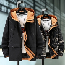 Plus Size 10XL 9XL 8XL 7XL 6XL Streetwear Hip Hop printed Loose Parkas Jacket Fashion Man Windproof Casual Padded Outwear Coats