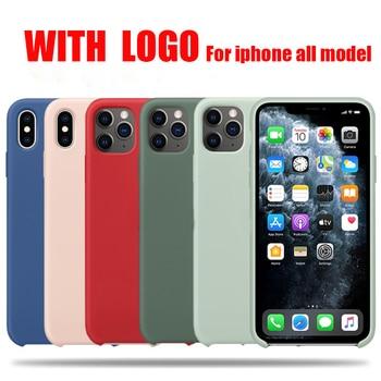 Официальный силиконовый чехол с логотипом для iphone 12 pro max 7 8 6 6s plus, чехол для apple iphone 11 pro max xr xs max x se 2020, чехол