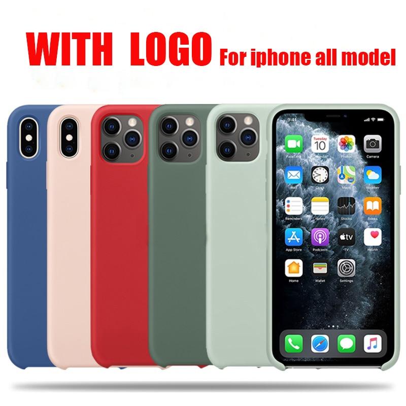 Официальный силиконовый чехол с логотипом для iphone 7 8 6 6s plus, чехол для apple iphone 11 pro max xr xs max x se 2020|Чехлы-накладки|   | АлиЭкспресс - Я б купил