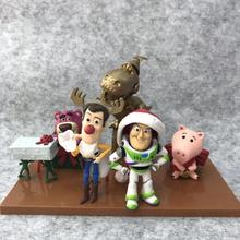 6pcs/lot Toy Figure Woody Buzz Lightyear Dragon Children Christmas Toys