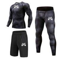 Di alta Qualità di Compressione Vestiti di Sport degli uomini Quick Dry Corsa e Jogging I Vestiti degli insiemi di Sport di Jogging Palestra di Formazione di Fitness Tute Corsa e Jogging