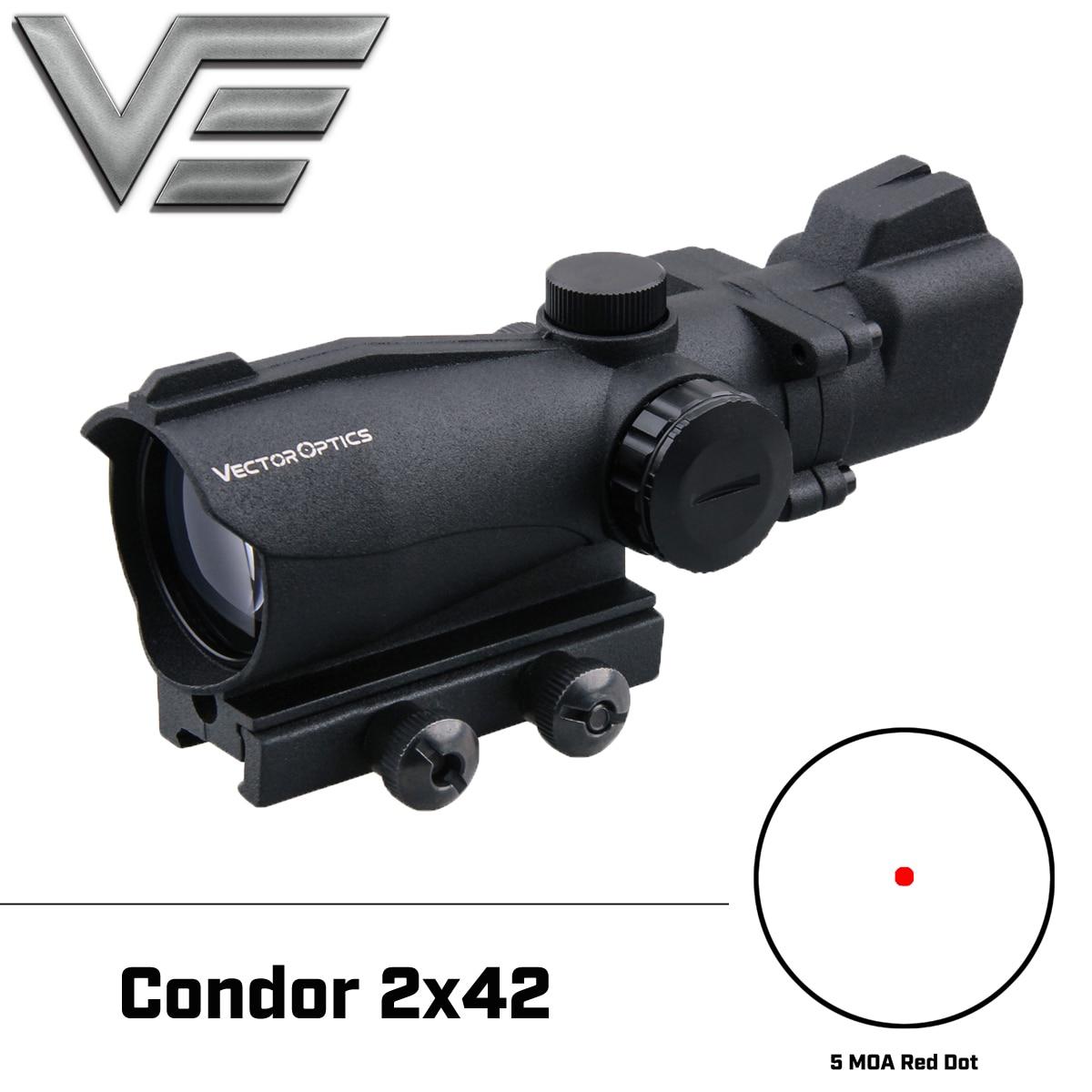 Vector Optics Condor 2x42 Green & Red Dot Shooting Hunting Reflex Rifle Scope 2 Times Magnification Weapon Air Gun Shotgun Sight