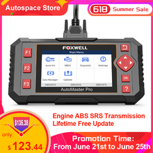 FOXWELL NT604 Elite OBD 2 Diagnosis Tool Professional Car Automotive Scanner ABS Airbag AT Engine OBD 2 Code Reader Free Update