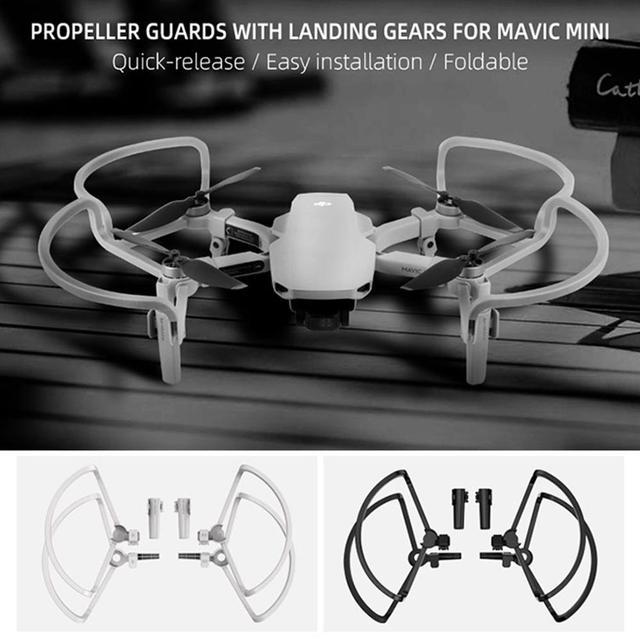 SUNNYLIFE 4pcs ใบพัด SHIELD Guards แหวน 2pcs EXTENDED Landing Gear ขาสนับสนุน Stabilizers สำหรับ DJI Mavic MINI