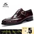 Homens sapatos de couro de negócios vestido terno sapatos masculinos marca bullock couro genuíno preto slipon casamento masculino sapatos phenkang
