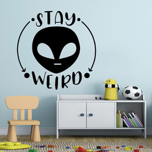 Family Decor stay weird Wall Sticker Home Decoration Accessories Waterproof Wall Decals Rooms Home Decoration
