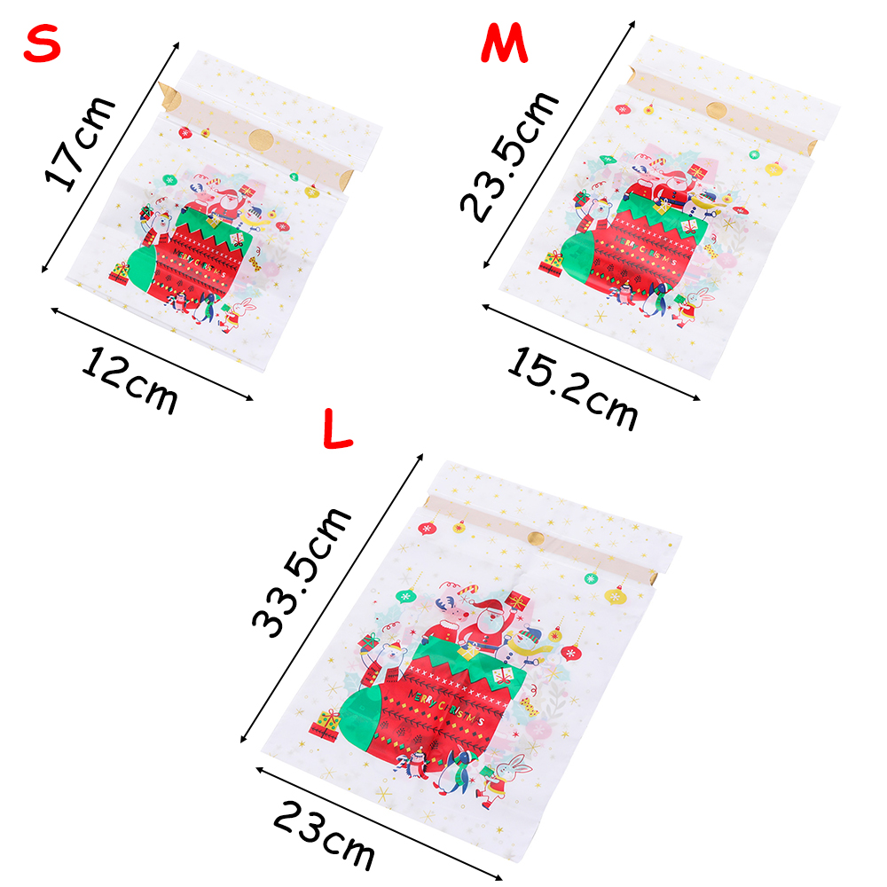 Cookie  Xmas  wrap packaging Drawstring Gift Storage Bags Christmas Candy Bag