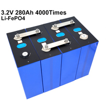 4PCS 3.2V 280Ah prismatic lifepo4 battery DIY 12V 280AH rechargeable battery pack for E-scooter RV Solar Energy storage system