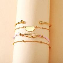 Модный новый браслет с перьями в упаковке креативные ретро простые