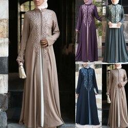 Женская абайя мусульманское платье размера плюс 5xl турецкий кафтан марокканский кафтан хиджаб вечернее платье мусульманская одежда