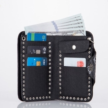 Vintage Rock Punk Metal Skull head Ghost Men Wallet Money bag Male PU Leather Long Wallets With Chain ID Card Holders Coin Purse
