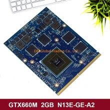 Original GTX 660M GTX660M 2GB Grafik Video VGA GPU Karte Für DELL M15X M17X M18X N13E-GE-A2 100% Test schnelle Versand