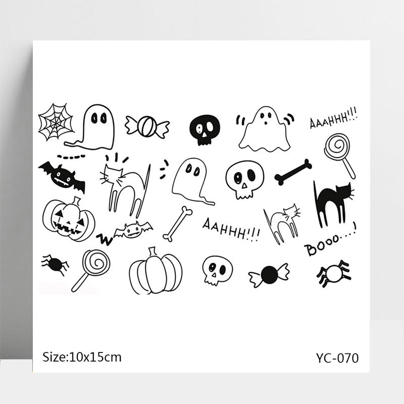 Halloween greetings Silicone Stamps Seal for DIY Scrapbooking Photo Album Decorative Card Making Clear Stamps Supplies in Stamps from Home Garden