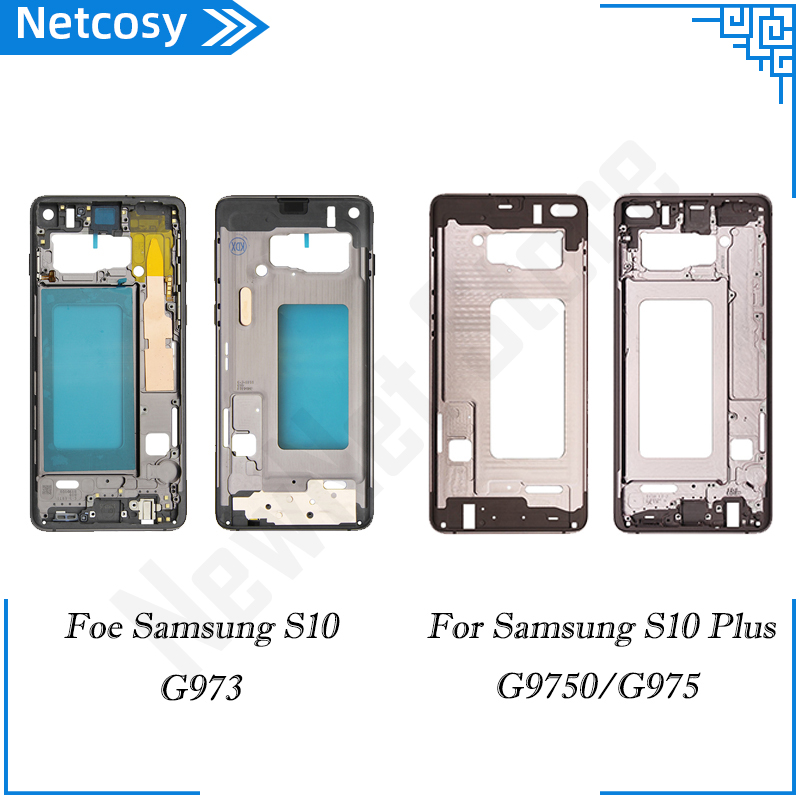For Samsung Galaxy S10 G973 S10Plus G9750 Back Mid Middle Frame Rear Housing Cover Bezel Replacement repair parts For S10+ G9750