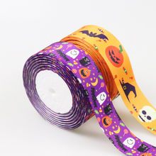 5 Meters Easter Cartoon Satin Halloween Ribbon Silk Grosgrain 25MM 38M DIY Decoration Character Ribbons For Crafts Gift Packing