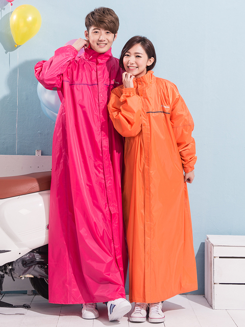 Adult Women Raincoat Waterproof with Hood Motorcycle Outdoors Poncho Bicycle Raincoat Blouse Jetable Household Rain Gear DB60YY
