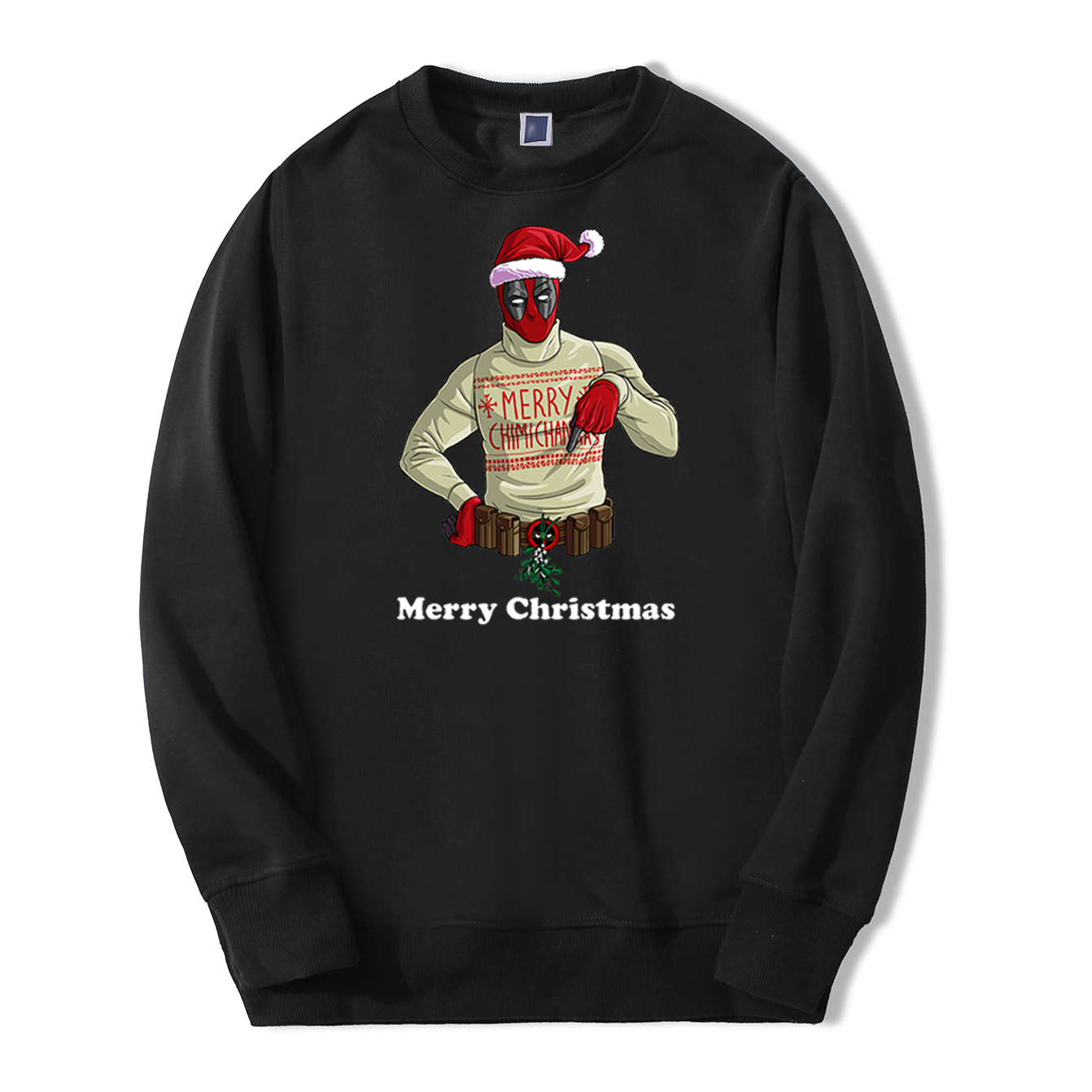Merry Christmas Deadpool Mens Sweatshirts Hoodie Casual Fleece Streetwear Autumn Sweatshirt Fashion Happy New Year Warm Hoodies