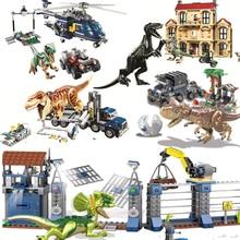 legoing Dinosaurs Toys T-Rex  Jurassic World 2 Sets Blocks Building Animals Model Brick Figures For kids gift