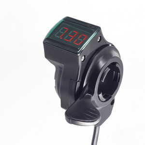 WEXPLORE Electric Bike Scooter Thumb Throttle 12-84V Right Hand Ebike Throttle With LCD Display Electric Bicycle Thumb Throttle