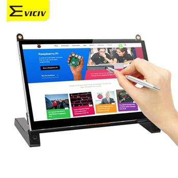 цена на Eviciv Touch Screen Monitor 7 Inch Raspberry Pi 2 3 4 Zero Portable Display with Holder Stylus LCD USB HDMI FPC Educate Student