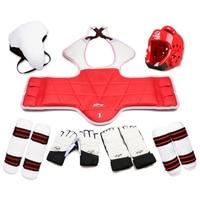 Adults Children Karate Chest Leg Protector Set WTF Palm Glvoes Taekwondo Helmet Kids MMA Jockstrap Body Guard Sparring Equipment