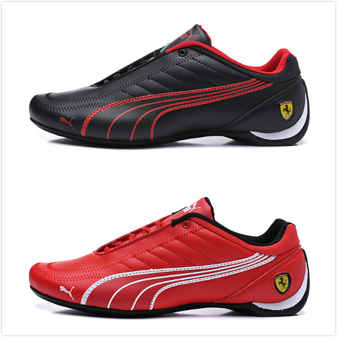 New Pumas Leather Men's Sports Casual Shoes Fashion Ferrarimotorcycle Racing Shoes Driving Travel Shoes