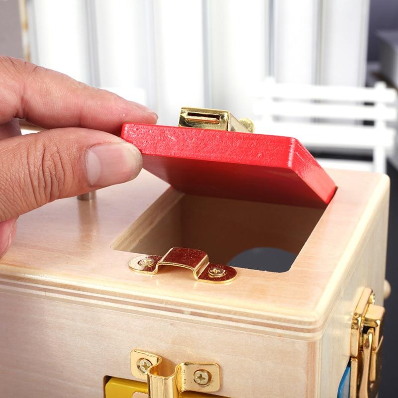 Enfants Montessori jouets serrure boîte Montessori matériel sensoriel éducatif en bois jouets enfants Montessori bébé jouet - 6