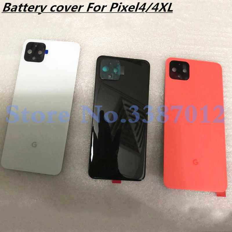 New For Google Pixel4 Pixel 4 XL Back Battery Cover Door Rear Glass Housing Case Replacement for Google Pixel 4 Battery Cover