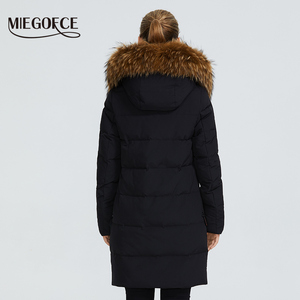 Image 4 - MIEGOFCE 2019 New Winter Collection Jacket Women Winter Parka With a Fur Hood Patch Pocket Women Coat different unusual colors