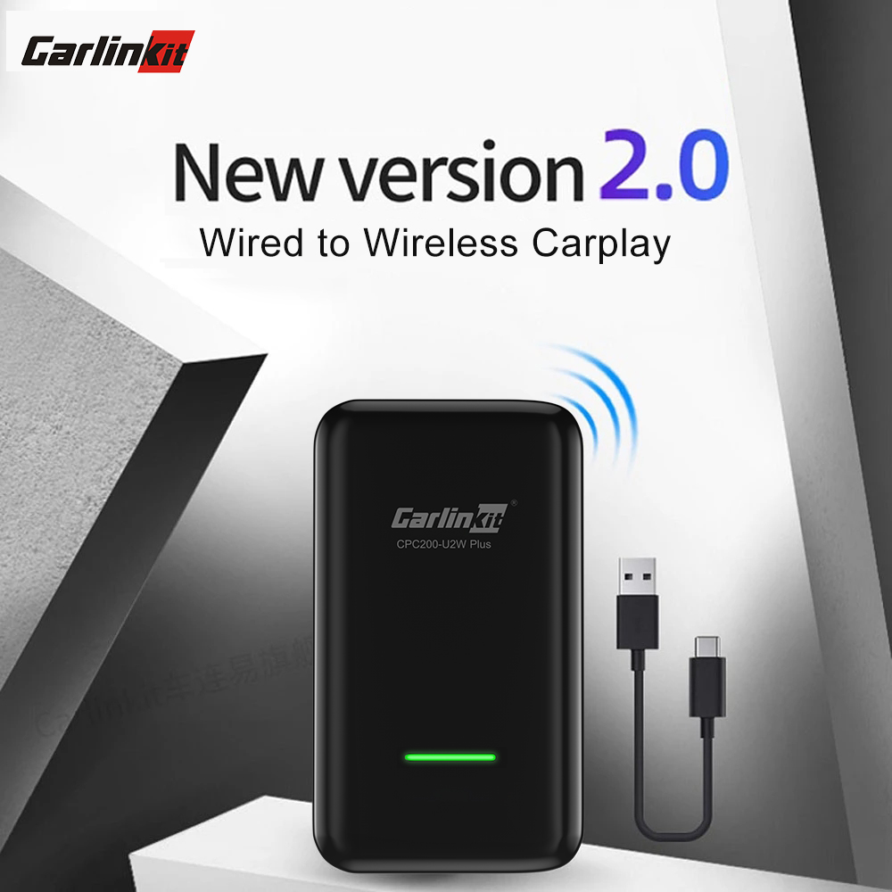 Compatible with Audi//Porsche//Volvo//Volkswagen//Ford SYNC3 Online Upgrade USB Type A//C Convert Wired to Wireless carplay Carlinkit Wireless CarPlay Adapter U2W for Factory Wired CarPlay Cars iOS 13