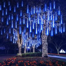 Meteor Shower Rain Lights, 8 Tube 30cm, In Falling Rain Fairy LED String Lights, Raindrop Light,Holiday Party Home Outdoor Decor