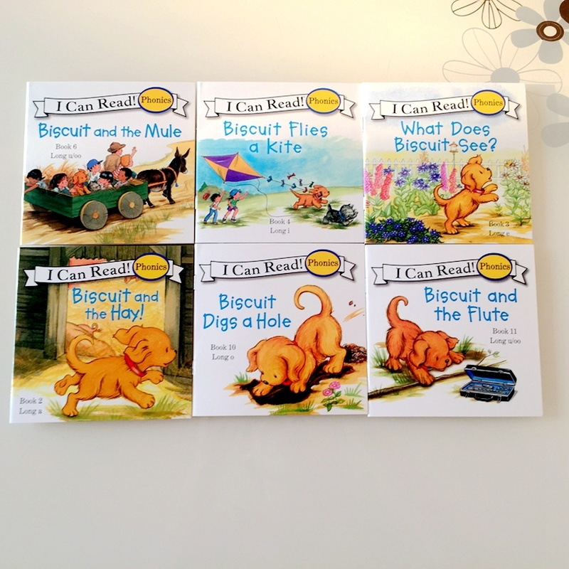 12 Books Biscuit Series Phonics English Picture libros   5
