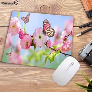 Image 4 - Mairuige تعزيز كبير كول جديد جميل زهرة فراشة لوحة المفاتيح الألعاب مسند الماوس حجم صغير ل 18X22CM المطاط موسيماتس