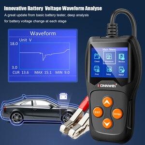 Image 3 - Konnwei KW600カーバッテリーテスター12vデジタルカラー画面自動バッテリーアナライザー100 2000CCAにクランキング充電車診断