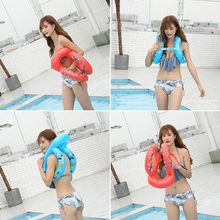 Baby Swimming Accessories Neck Ring Tube Safety Infant Float for Bathing Inflatable Flamingo Inflatable Pool Water(China)