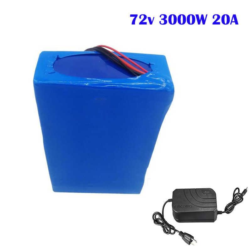 72V 20AH EBIKE baterii LG 18650 komórki Li-ion akumulator elektryczny rower bateria 72V 3000W bateria do silnika skutera koła