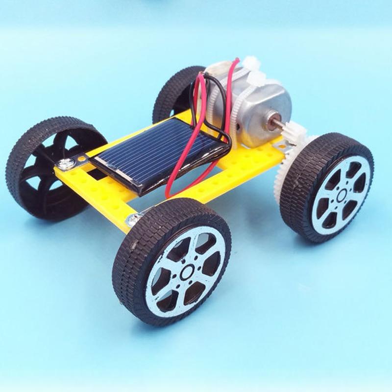 DIY Assembled Energy Solar Powered Toy Car Robot Kit Set Mini Science Experiment Solar Car Toys For Children Educational Toys