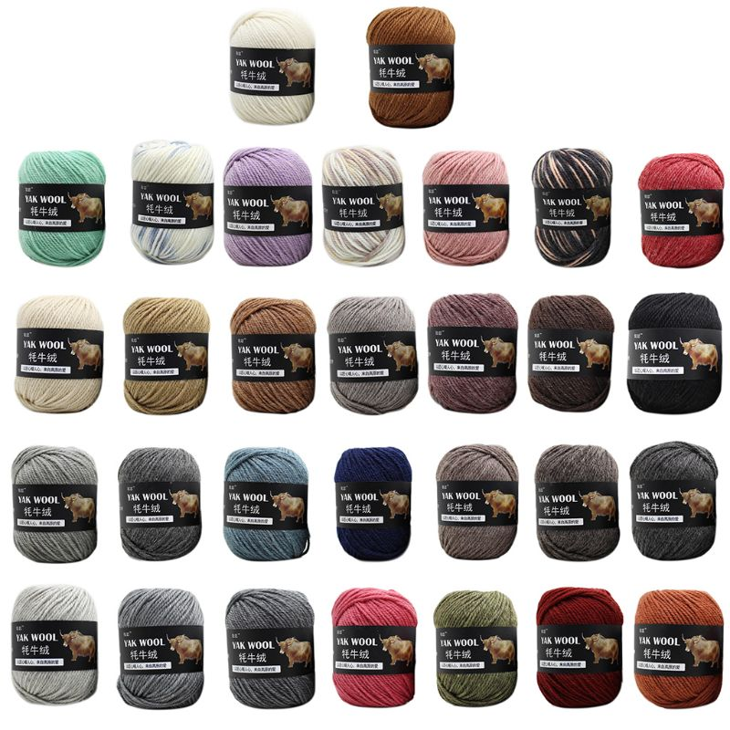 100g Artificial Yak Wool Thread Hand Knitted Crochet Medium Thick Worsted Yarn NEW