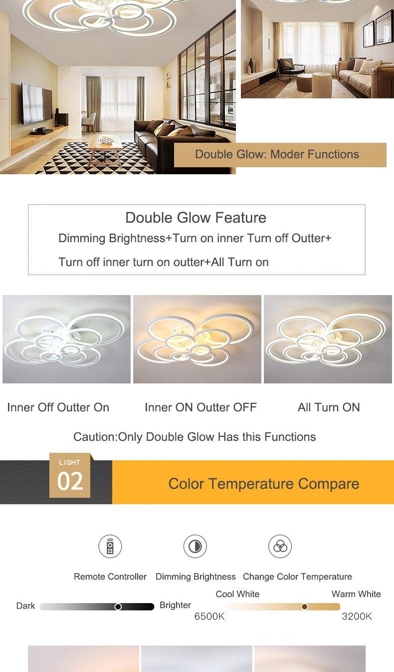 Hcd6697c28f6f46d48def941fdded6c8dZ NEO Gleam RC Modern Led ceiling lights for living room bedroom study room ceiling lamp plafondlamp White Color AC 110V 220V