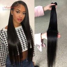Human Hair Bundles Brazilian Straight Hair Weave