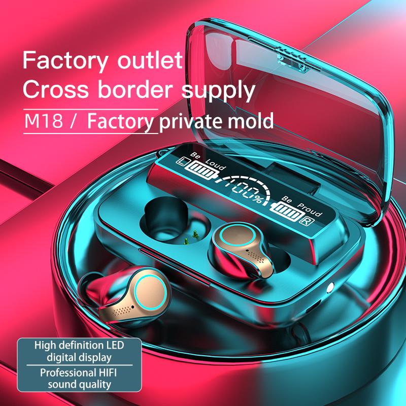 TWS Bluetooth 5.1 Earphones 5000mAh Charging Box Wireless Headphone 9D Stereo Sports Waterproof Earbuds Headsets With Microphone