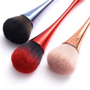 Image 3 - Único pó fundação pincel de maquiagem rosa ouro suave blush blush blending escova rosto beleza ferramentas forma de cálice vermelho azul escova de cosméticos