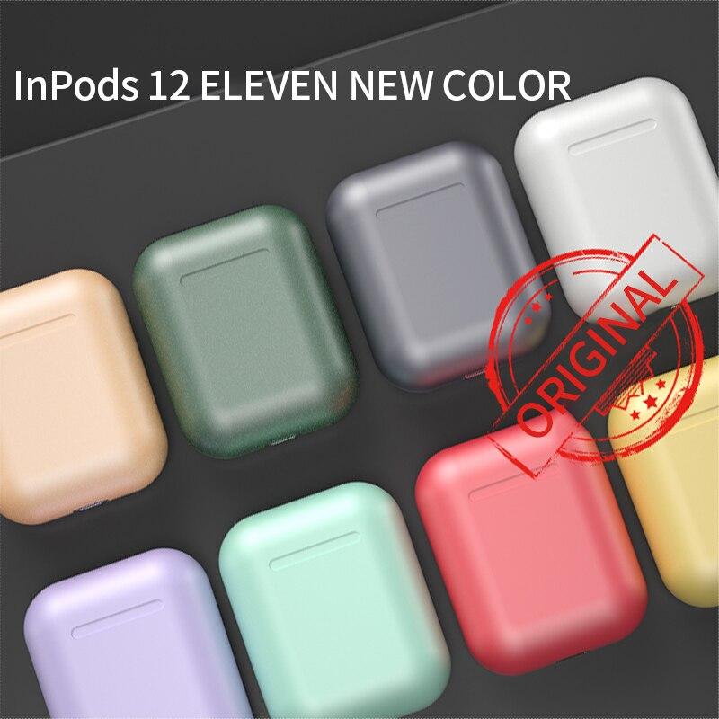 I12 настоящие Bluetooth-наушники, беспроводные наушники Macaron, металлические цветные спортивные наушники-вкладыши для смартфона
